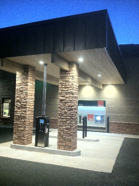 1st Bank Glenwood Springs CO ATM and Drive-up canopy & Commercial | Alpenglow Sustainable Lighting Design